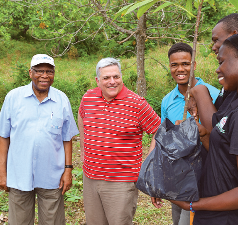 ACDI/VOCA president Bill Polidoro and Board Chair Mortimer Neufville visit Jamaica JaREECH