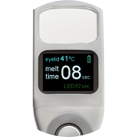 Closeup of the Systane iLux Meibomian Gland Dysfunction (MGD) treatment device interface
