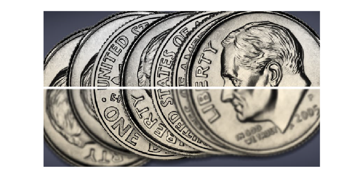 Before and After Image of Dimes