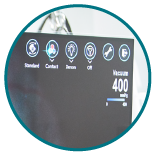 NGENUITY® Custom Display and DATAFUSION™ showing surgical parameters on-screen