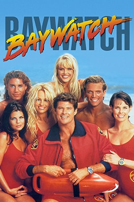 Baywatch Poster - 90s TV Show Font Example