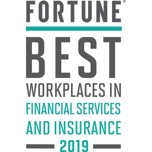Fortune Best Workplaces in Financial Services and Insurance 2019 logo