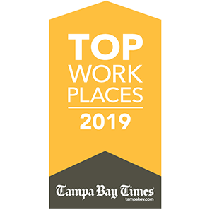 Tampa Bay Times Top Work Places 2019 logo