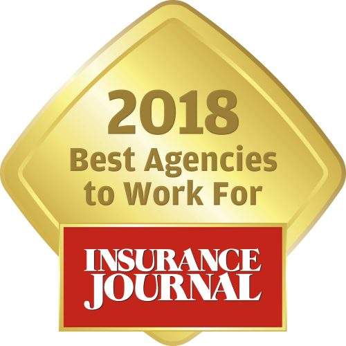 Insurance Journal 2018 Best Agencies to Work For logo