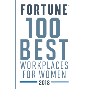 Fortune 100 Best Workplaces for Women 2018 logo