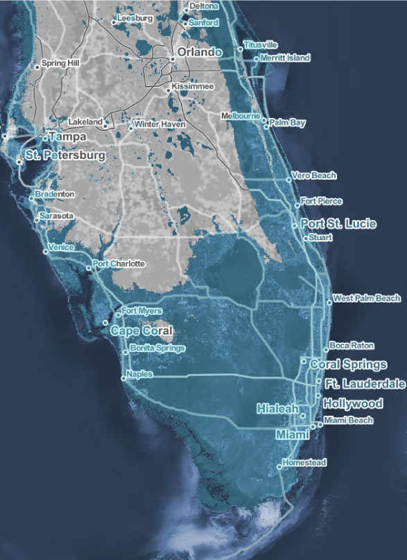 miami sea level rise map Miami Is Racing Against Time To Keep Up With Sea Level Rise miami sea level rise map