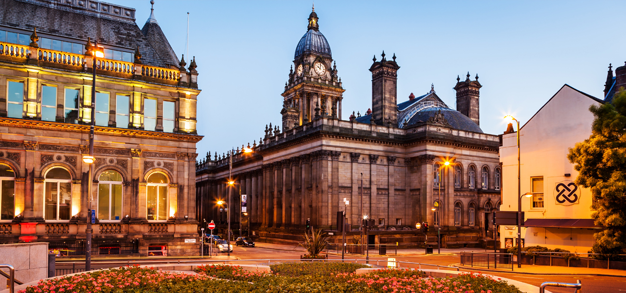 Leeds town hall used for concerts and civic functions