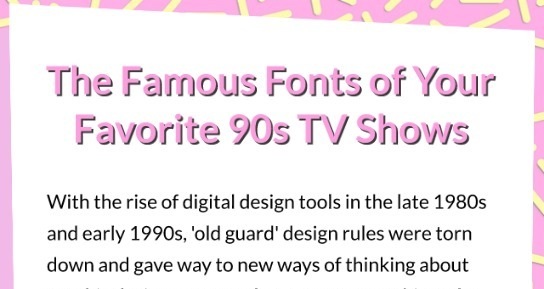 The Famous Fonts of Your Favorite '90s TV Shows - Mobile