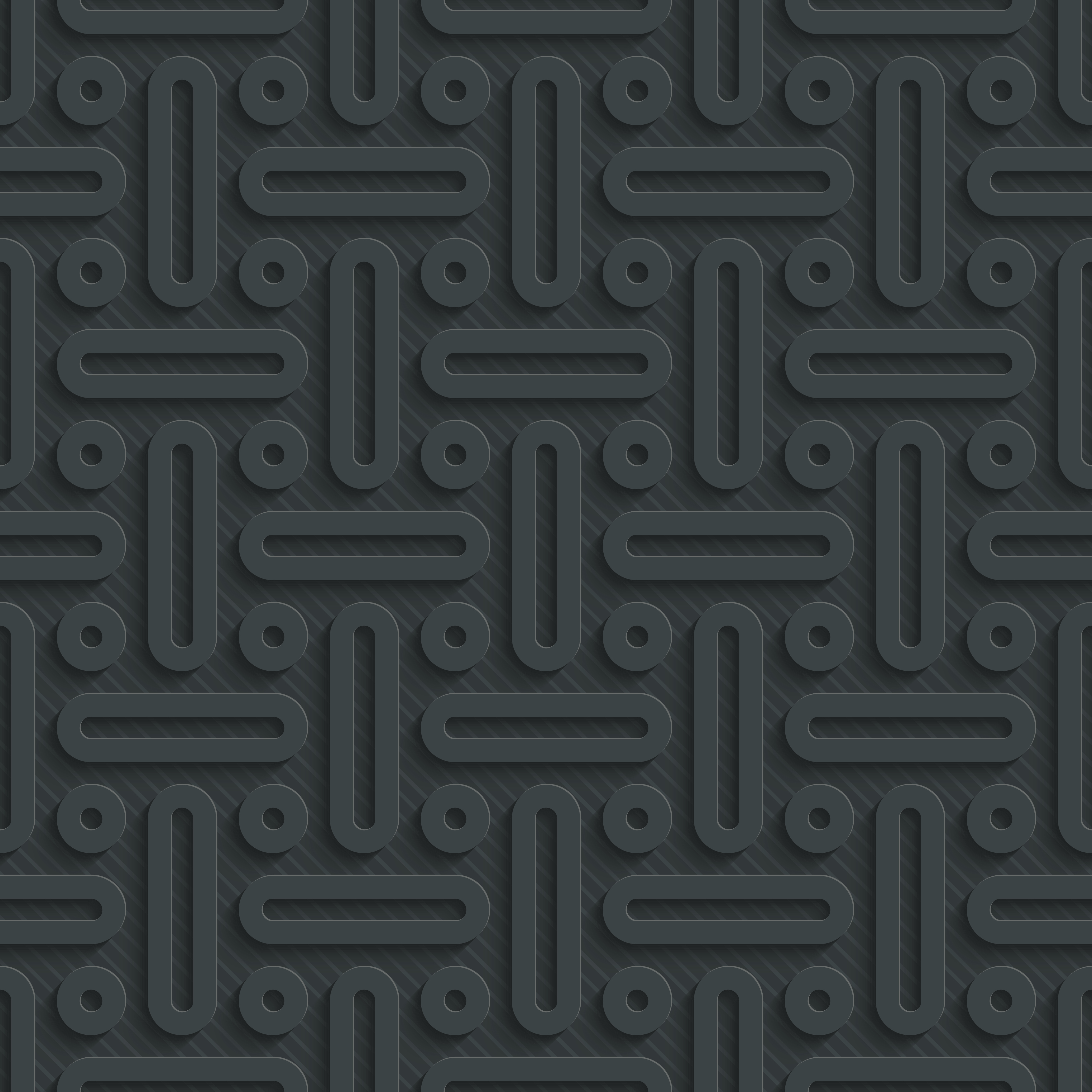 Dark seamless vector background with 3D effect. Full editable vector EPS10 tileable wallpaper.