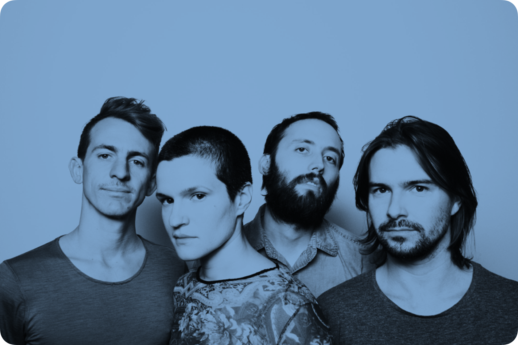 Members of Big Thief lined up