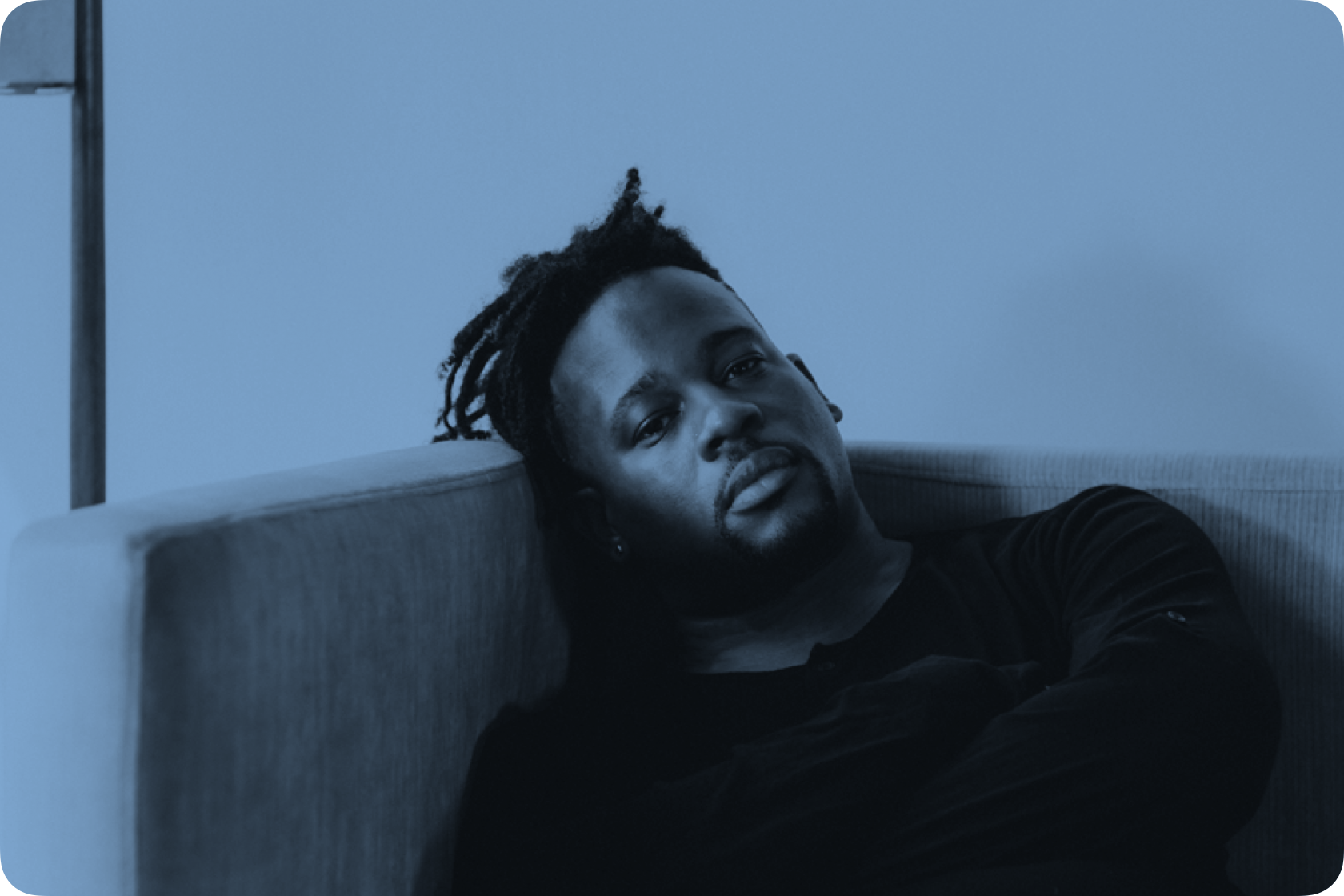 Open Mike Eagle sitting down