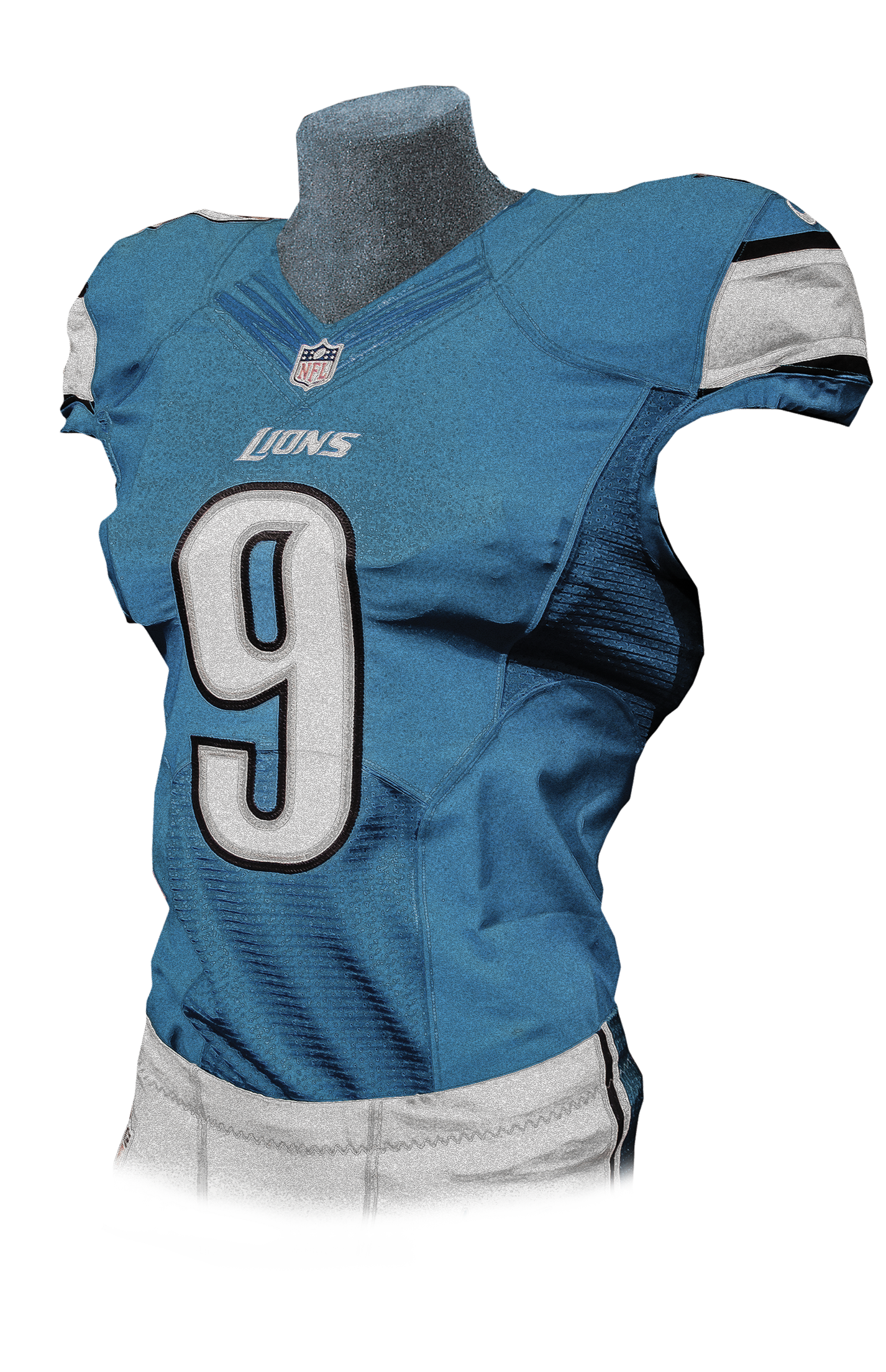 277d562ca 2005  The Lions introduced a new black alternate jersey featuring Honolulu  blue numbers with silver and white trim. The alternate jersey can be worn  in as ...