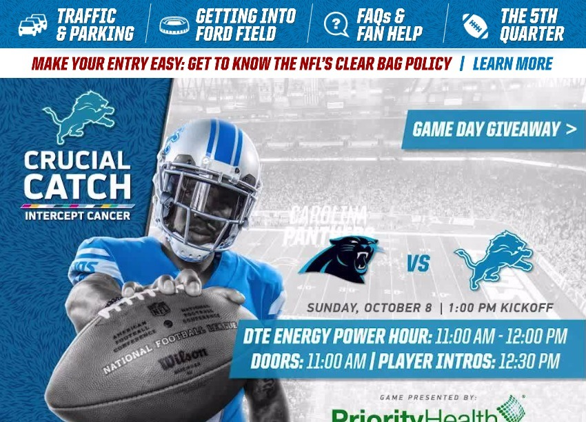 1bbab457 Game Day Guide - Panthers-vs-Lions-100417