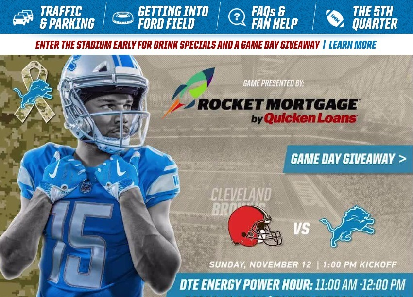 1ad9de2f Game Day Guide - Browns-vs-Lions-110817