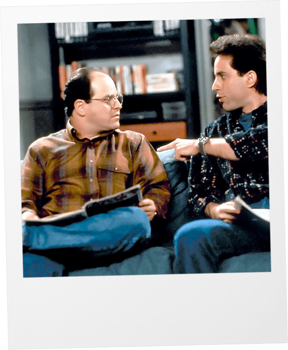 Jerry and George Seinfeld polaroid