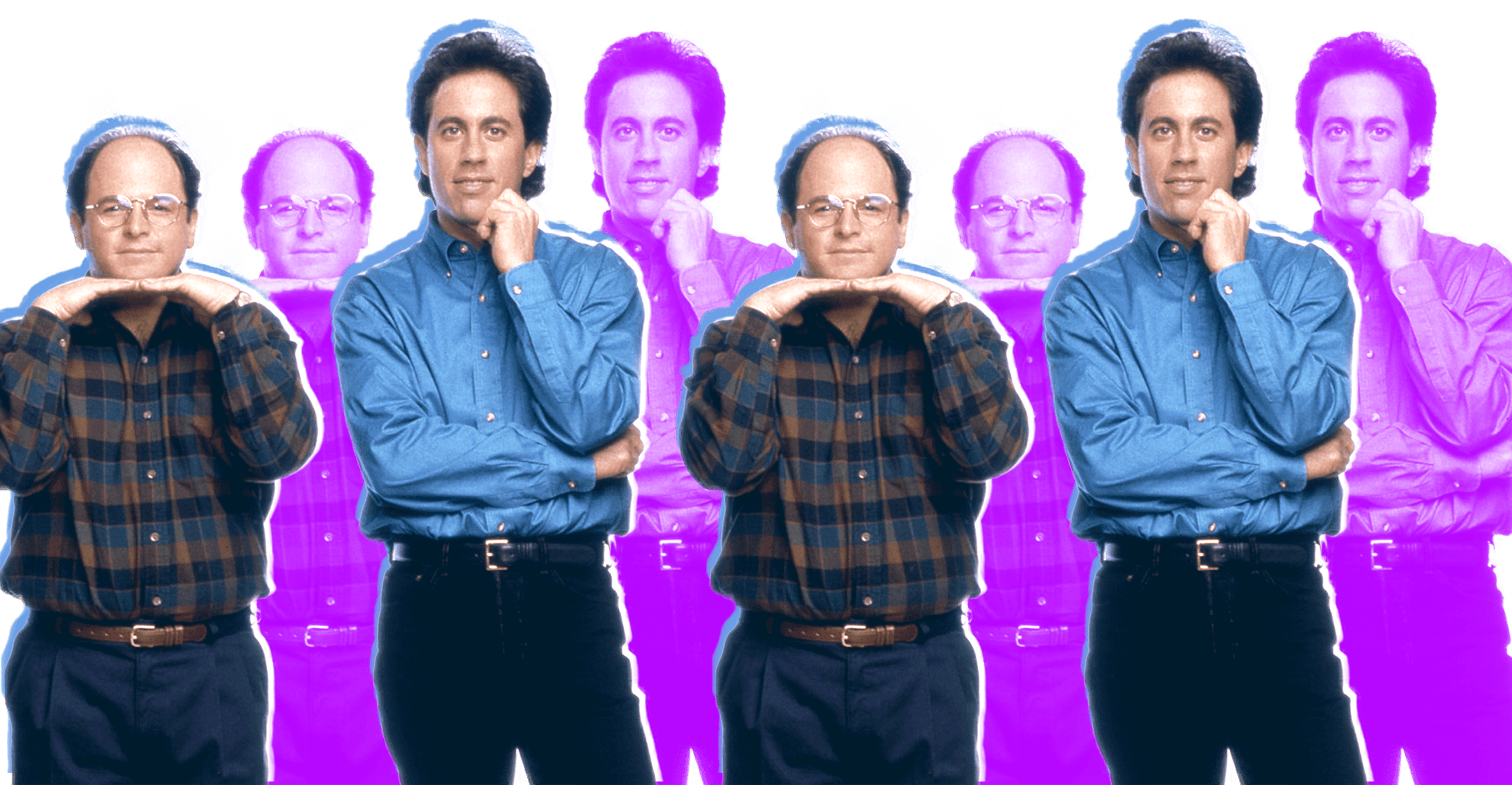 George and Jerry Seinfeld purple blue
