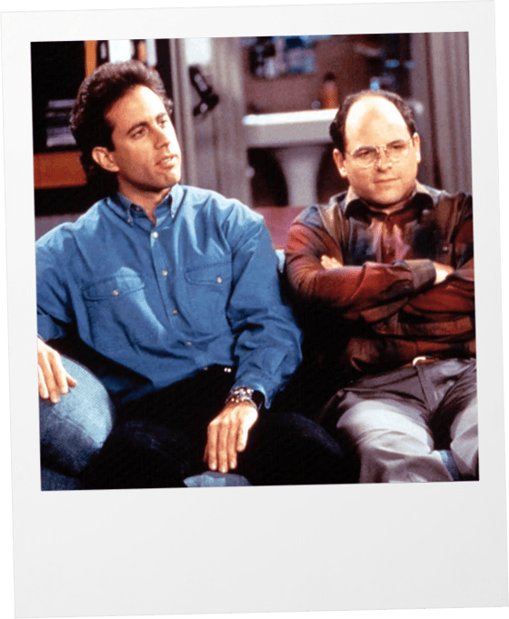 George and Jerry Seinfeld polaroid
