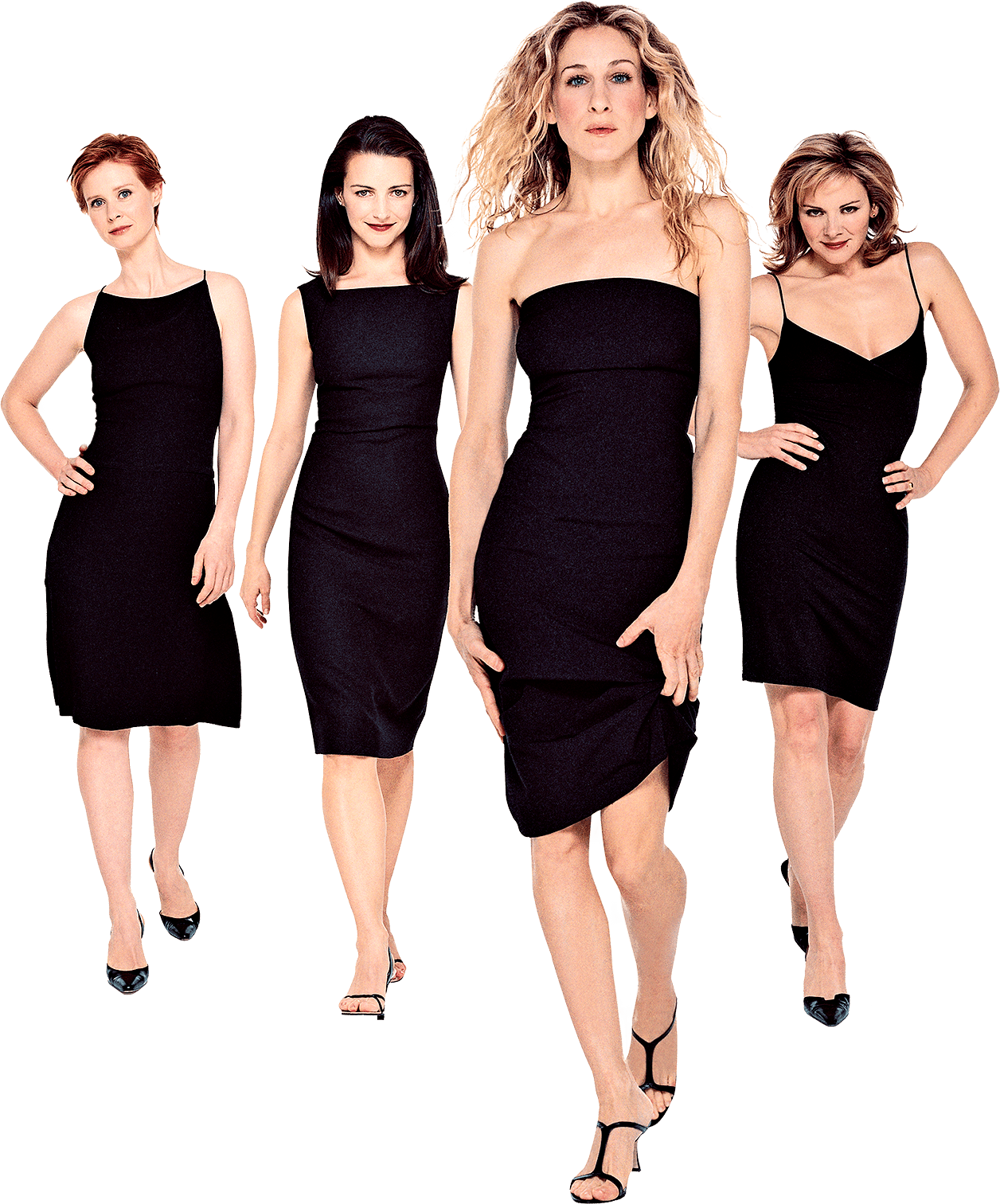 sex and the city cast wearing all black