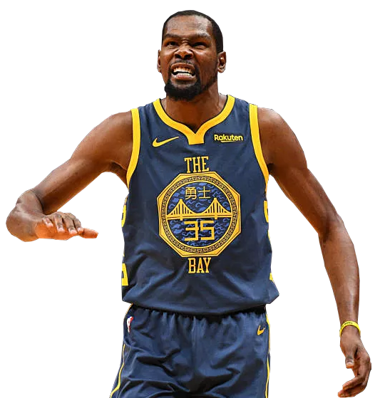 Kevin Durant in the 2018 Golden State Warriors City Edition Jersey