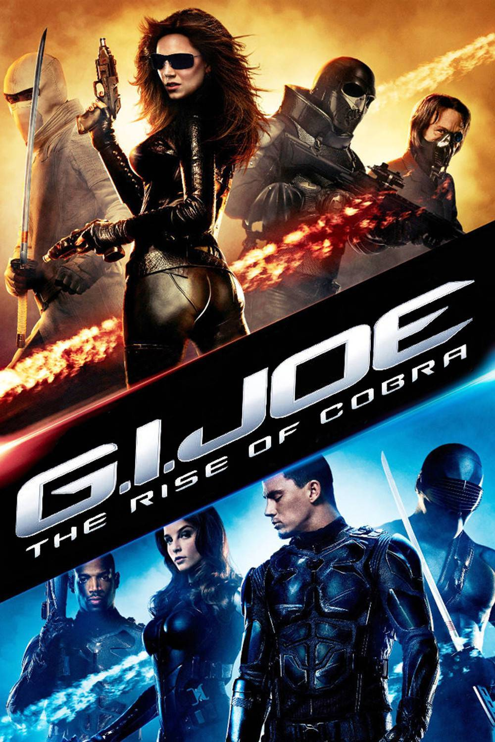G.I. Joe The Rise of Cobra movie poster in teal and orange coloration