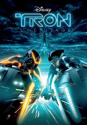 Tron Legacy movie poster in teal and orange coloration