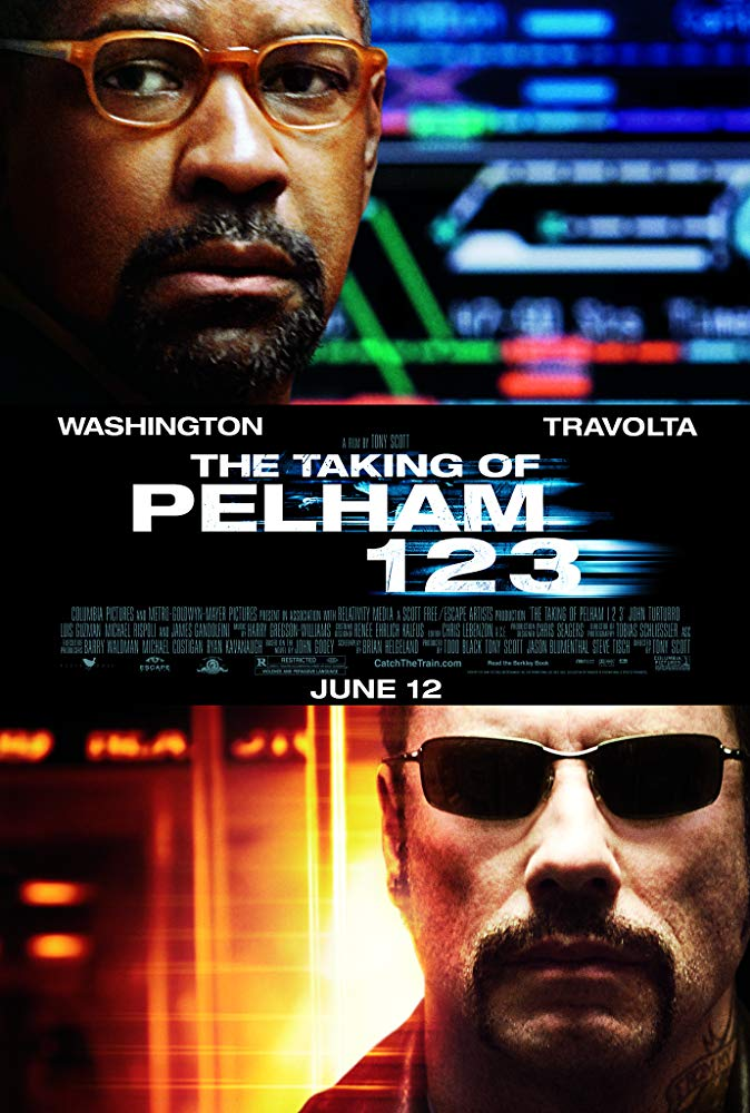 Taking of Pelham 123 movie poster in teal and orange coloration