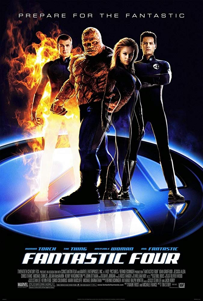 Fantastic Four movie poster in teal and orange coloration