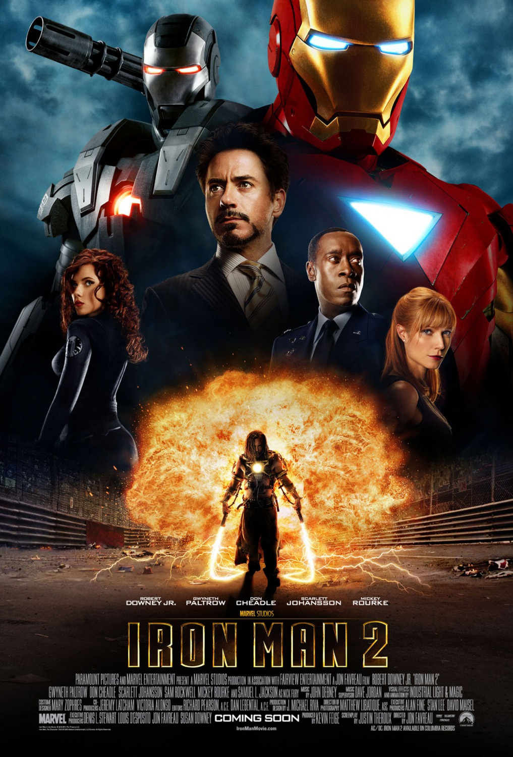 Iron Man 2 movie poster in teal and orange coloration