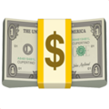 Illustration of dollars wrapped in a paper band with a dollar sign.