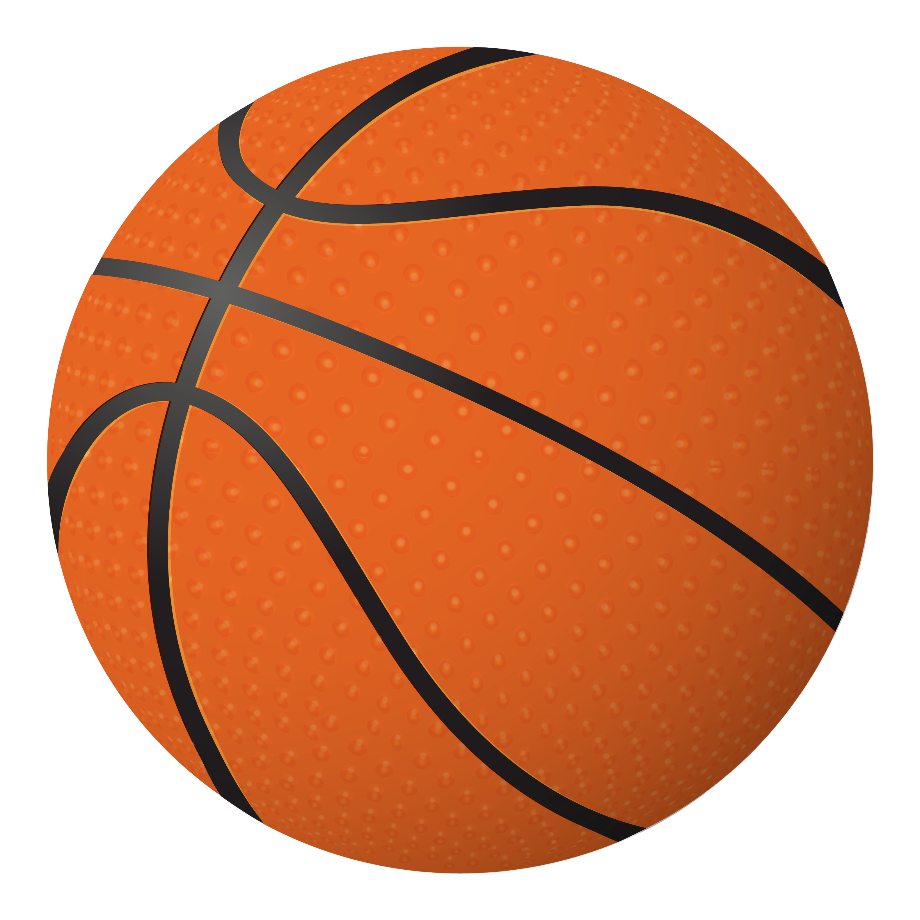 Basketball ball isolated object on white background.