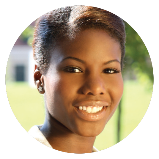 young African-American woman smiling