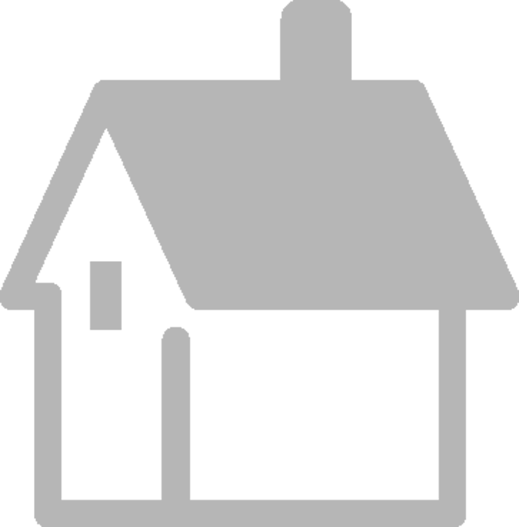 illustration of a gray house