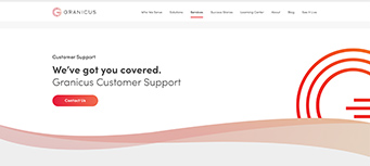 screenshot of the Granicus govAccess support page