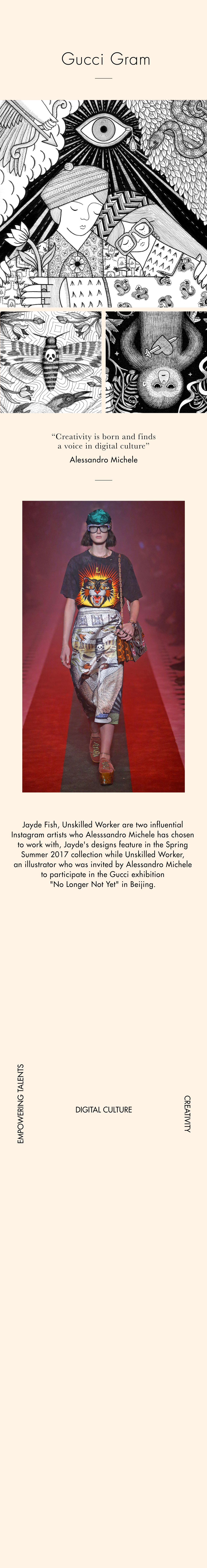 02ed94aabc9 Collaborations and unexpected sources of inspiration round out Alessandro  Michele s contemporary vision for Gucci. Working with artists he has found  on ...