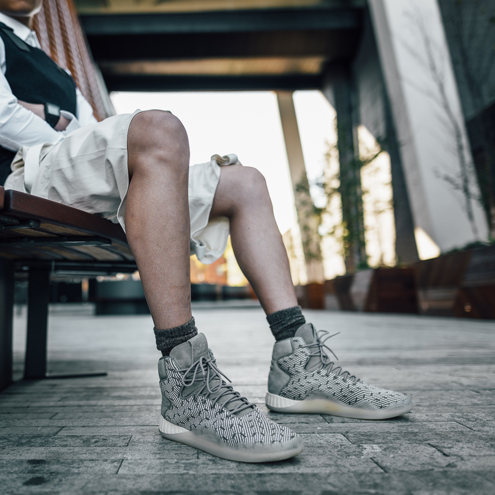 Adidas Originals TUBULAR SHADOW Trainers white / pearl gray