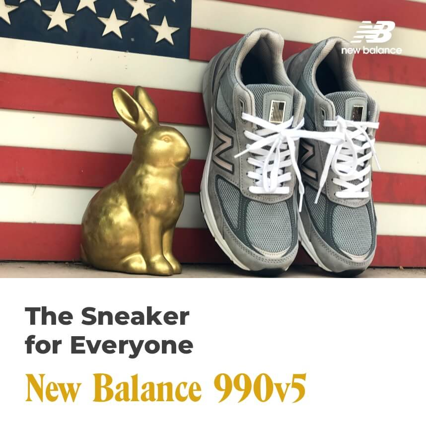 the sneaker for everyone - new balance 990 v5