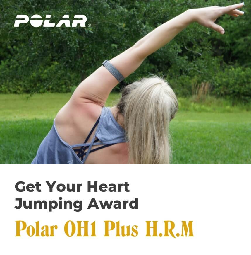 get your heart jumping award - polar oh1 plus hrm