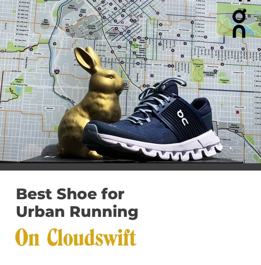 best shoe for urban running - on cloudswift