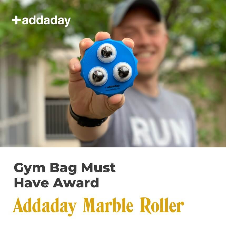 gym bag must have - addaday marble roller