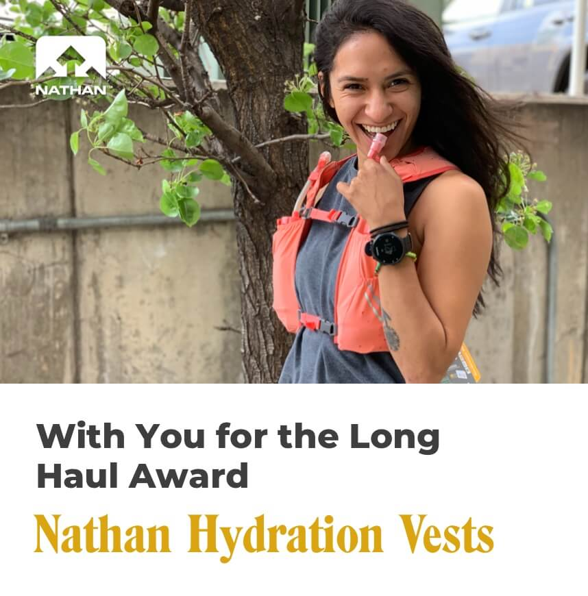 with you for the long haul award - nathan hydration vests