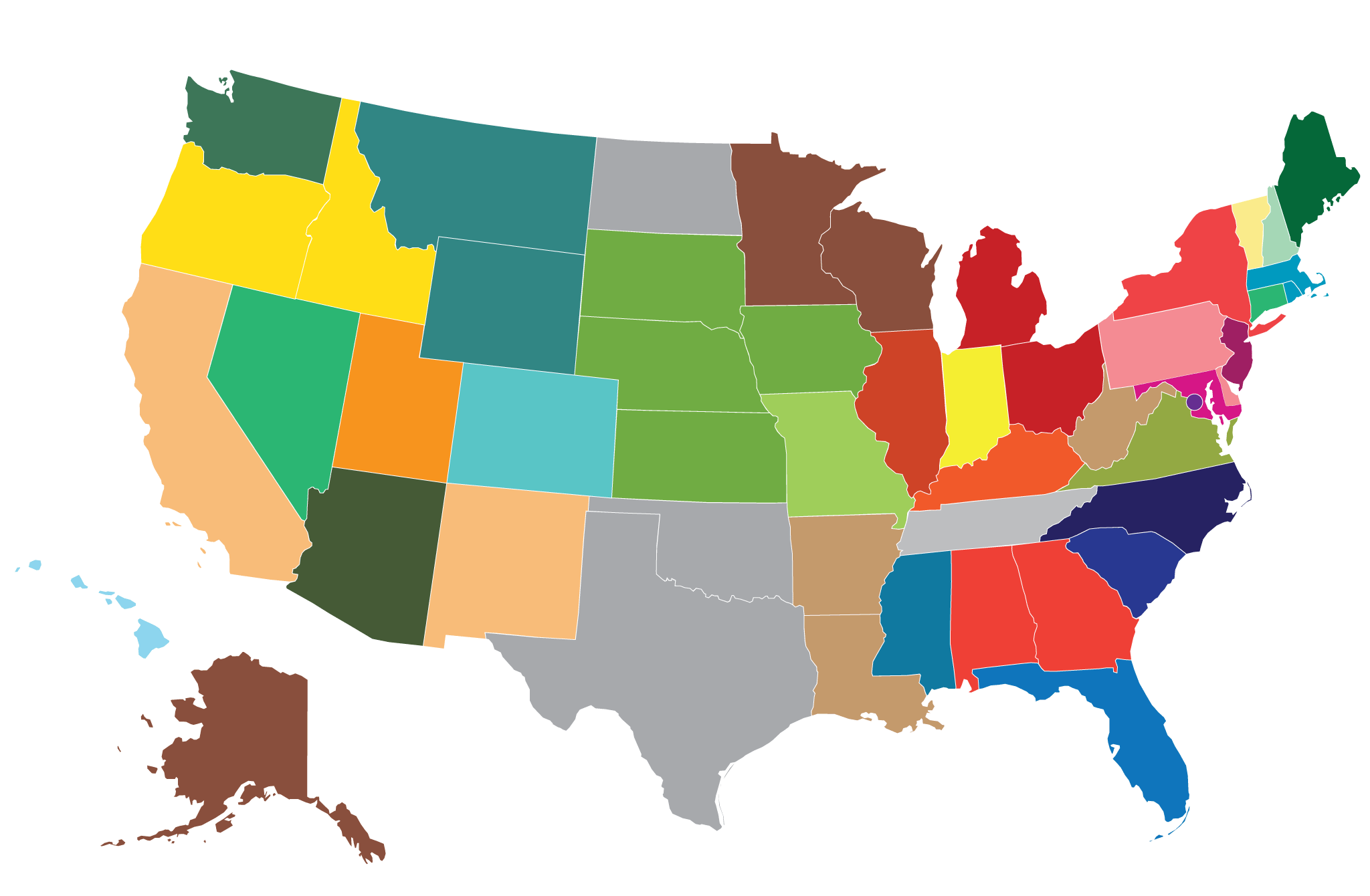 Dating stats by state