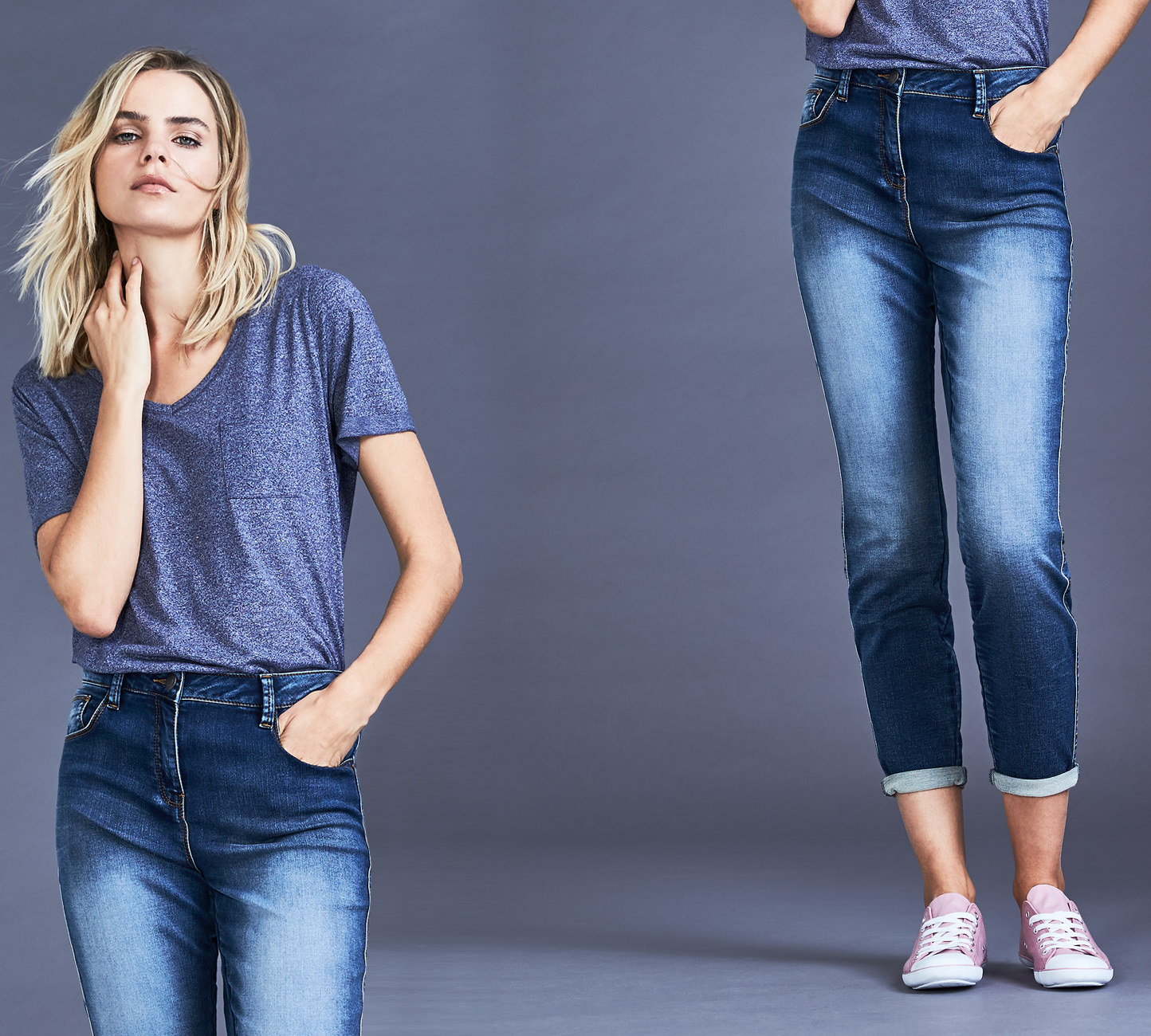 Women's Relaxed Skinny Fit Jeans - Shop Now