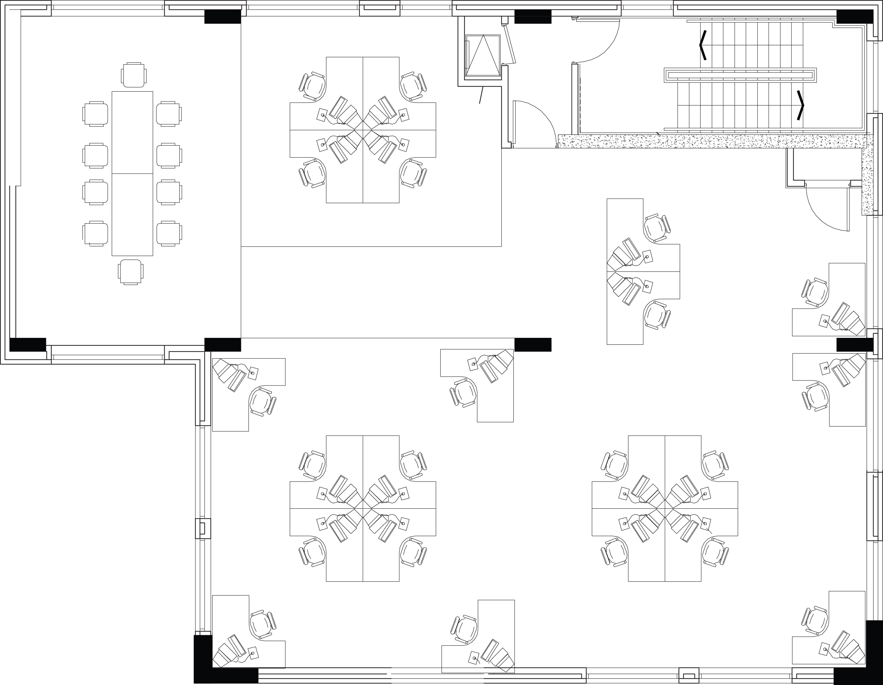 floor space drawings of a commercial business workspace