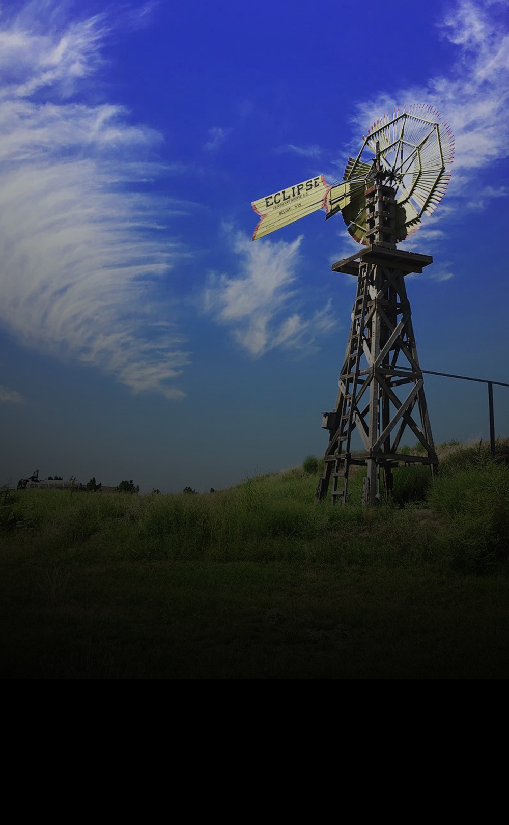 texas tourism – windmill landscape photo