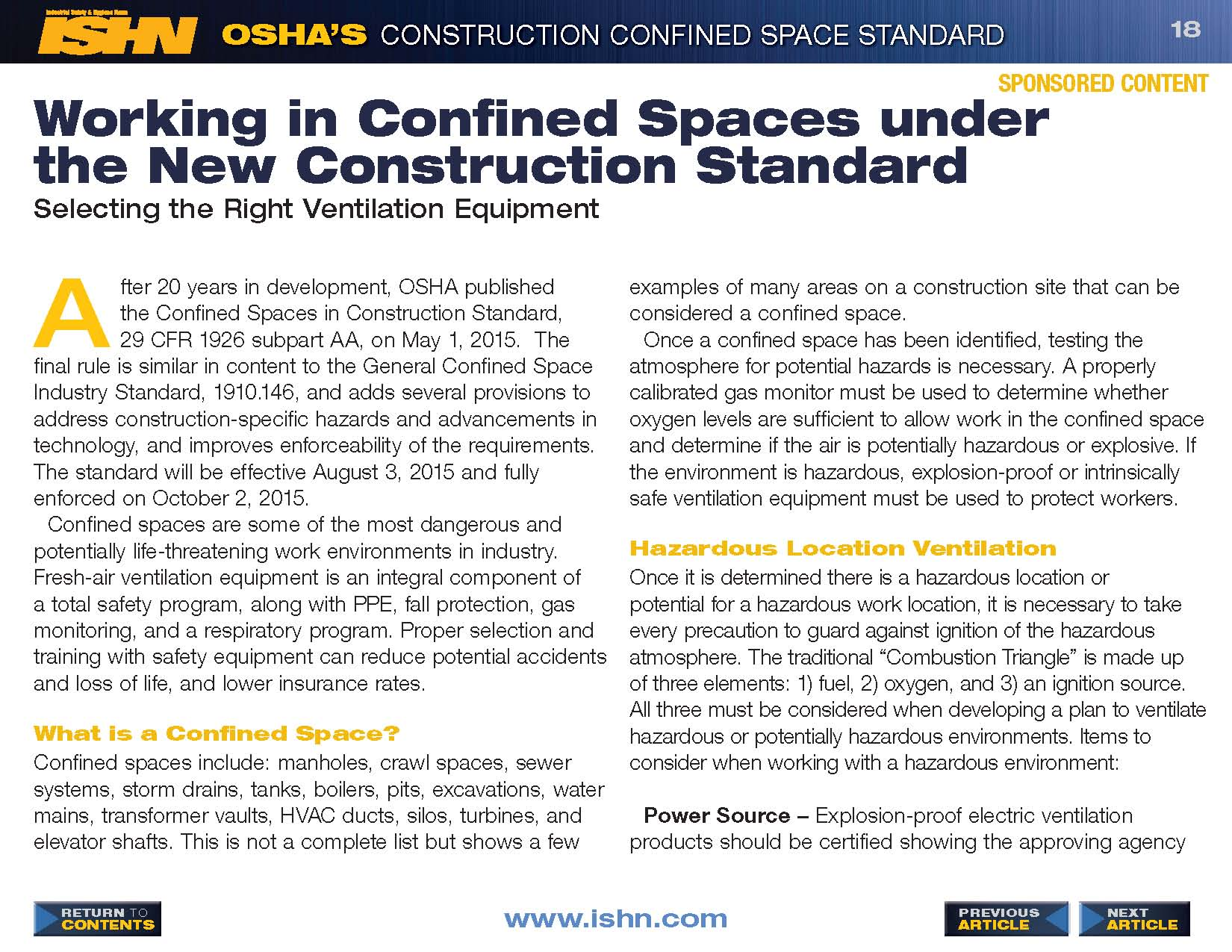 ISHN Confined Spaces eBook