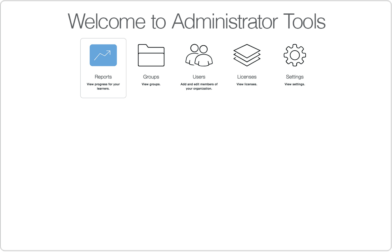 Simulated screen showing detailed administrator tools