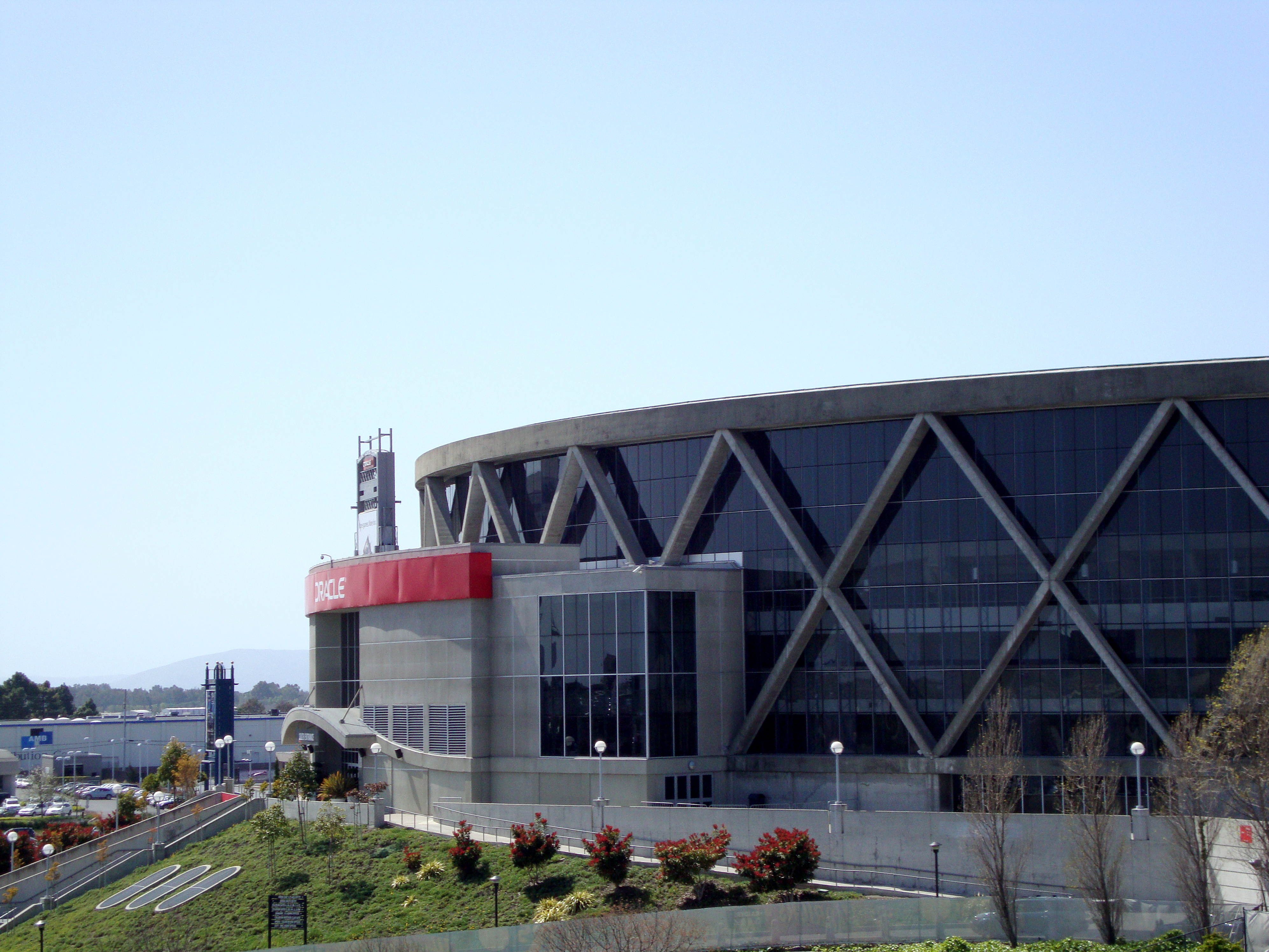 Oakland - April 8, 2010.: The Oracle Arena which is a multi-purpose sports and concert venue which is home to the Golden State Warriors of the NBA.