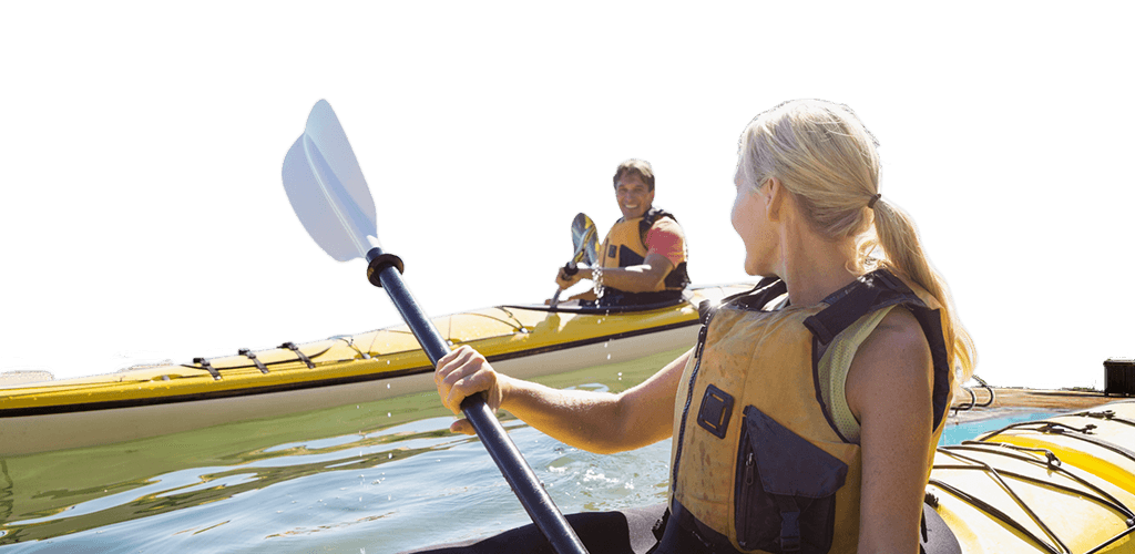 Top Livable Cities for 2016 - Raleigh North Carolina - Outdoor Activities - Couple Happily Kayaking