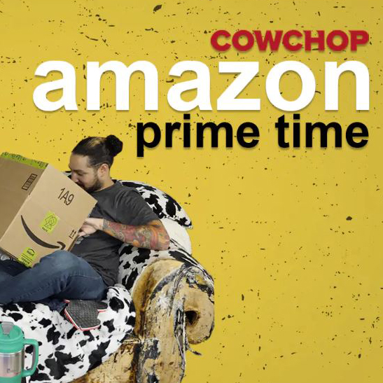 Amazon Prime Time Logo Cow  Chop