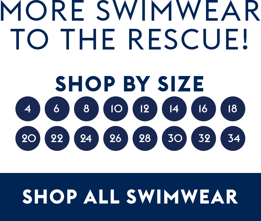 Shop by size, shop all swimwear